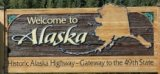 50-states-facts-AK; alaska welcome sign