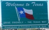 50-states-facts-TX; texas welcome sign