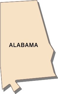 alabama-interesting-facts-01; state outline of alabama