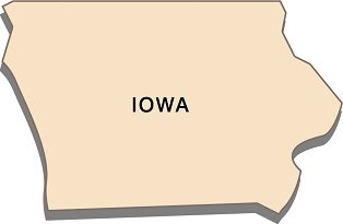 interesting-facts-about-iowa-01; state outline