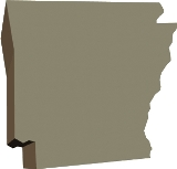 50-states-facts-AR; arkansas state outline