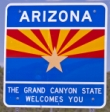 50-states-facts-AZ; arizona welcome sign