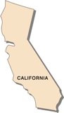 50-states-facts-CA; california state outline