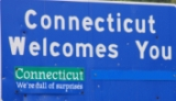 50-states-facts-CT; conneticut welcome sign