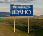 50-states-facts-ID; idaho welcome sign