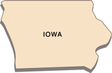 50-states-facts-IO; iowa state outline