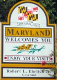 50-states-facts-MD; maryland welcome sign