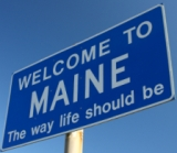 50-states-facts-ME; maine welcome sign
