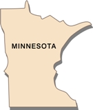 50-states-facts-MN; minnesota state outline