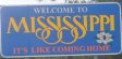 50-states-facts-MS; mississippi welcome sign
