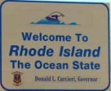 50-states-facts-RI; rhode island welcome sign