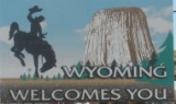 50-states-facts-WY; wyoming welcome sign