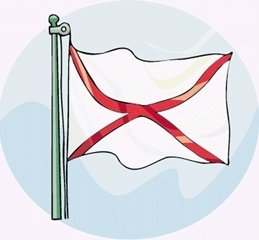 alabama-interesting-facts-02; alabama flag