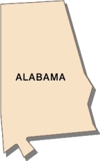 alabama-state-taxes-03; blackline map of alabama