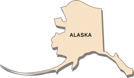 alaska-taxes-03; blackline map of alaska