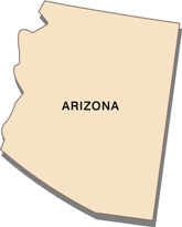 arizona-state-tax-rate-03; blackline map of arizona