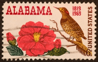 attractions-in-alabama-01; alabama postage stamp