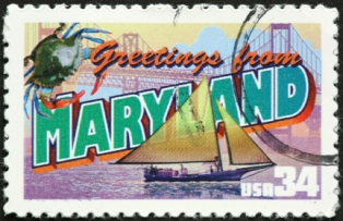day-trips-in-maryland-01; maryland postage stamp