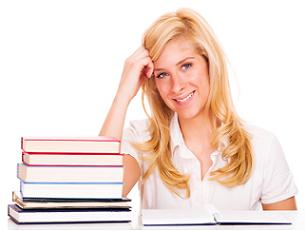 homeschool-college-02; girl with books