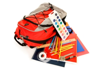 homeschooling-facts-01; backpack full of homeschooling supplies