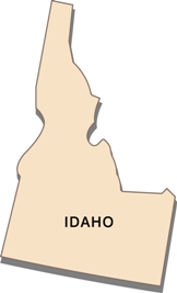 idaho-state-tax-rate-03; blackline map of idaho