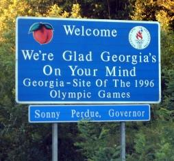 interesting-facts-about-georgia-02; state sign