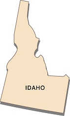 interesting-facts-about-idaho-01; state outline