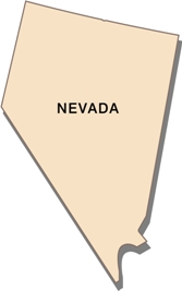 nevada-state-taxes-03; blackline map of nevada