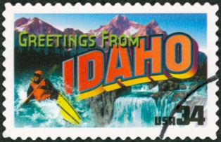 places-to-visit-in-idaho-01; idaho postage stamp