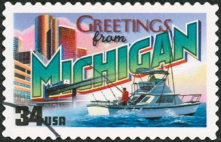 places-to-visit-in-michigan-01; michigan postage stamp