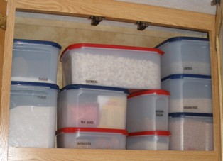 rv-living-full-time-09; organizing rv kitchen pantry