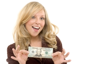 travel-and-make-money-09; woman excited about earning extra money