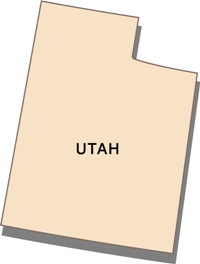 utah-state-taxes-03; blackline map of utah