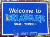 50-states-facts-DE; delaware welcome sign