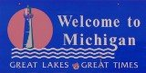 50-states-facts-MI; michigan welcome sign