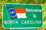 50-states-facts-NC; north carolina welcome sign