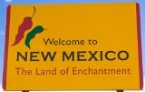 50-states-facts-NM; new mexico welcome sign
