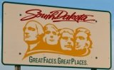 50-states-facts-SD; south dakota welcome sign
