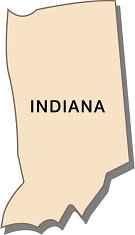 facts-about-indiana-01; outline of state