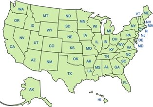 homeschooling-facts-04; map outline of homeschooling laws by state
