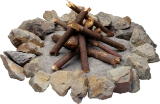 how-to-make-a-campfire-01; unlit campfire rock ring