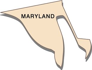 interesting-facts-about-maryland-01; state outline