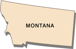montana-taxes-03; blackline map of montana