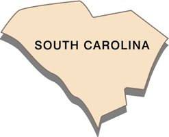 south-carolina-state-taxes-03; blackline map of south carolina