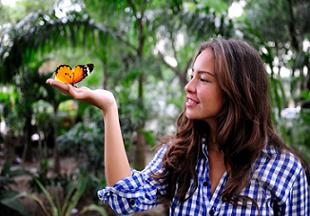 treasure-hunting-florida-02; butterfly in womans hand