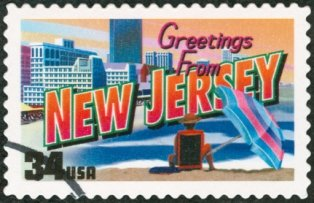 vacation-spots-in-new-jersey-0; new jersey postage stamp