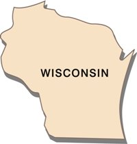 wisconsin-state-taxes-03; blackline map of wisconsin state