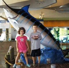 Kids with a Swordfish