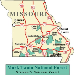 missouri-treasure-hunting; missouri map