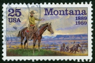 montana-fun-facts; Montana stamp